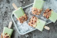 Matcha ice lollies
