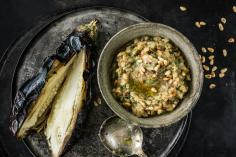 Mediterranean aubergine from the embers