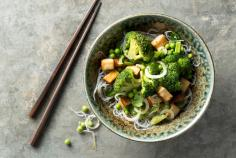 Broccoli and glass noodle salad