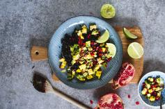 Coriander Lime Rice with Rainbow Salsa