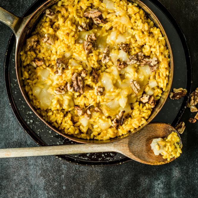 Pumpkin risotto with manchego