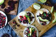 Berry Salsa Red Root Vegetable Tofu Tacos