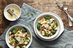 Orecchiette with broccoli and bacon