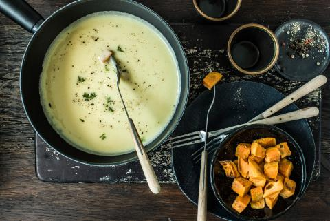 Fondue all'whiskey irlandese