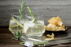 Pear & rosemary gin and tonic
