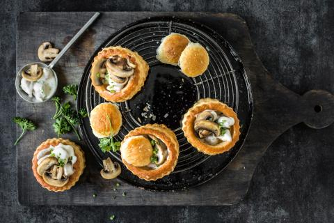 Vol-au-vent con polpettine