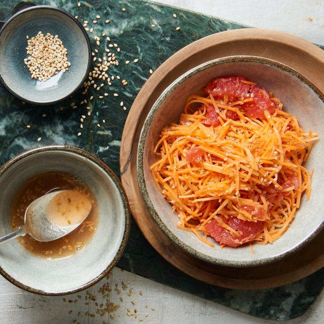 Carrot & sesame salad