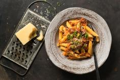 Landjäger sugo with penne