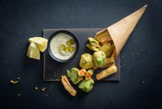 Beer-battered vegetables