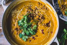 Harissa, squash and carrot soup