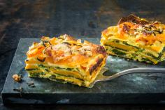Squash and spinach lasagne