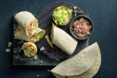 Rice wraps with tuna