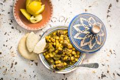 Beef tagine with salted lemons and chermoula