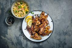Chicken wings with couscous