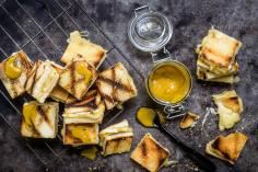 Grilled Cheese Bites with Honey Mustard Sauce