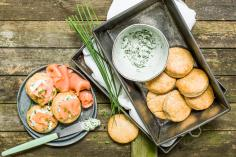 Potato scones with smoked salmon
