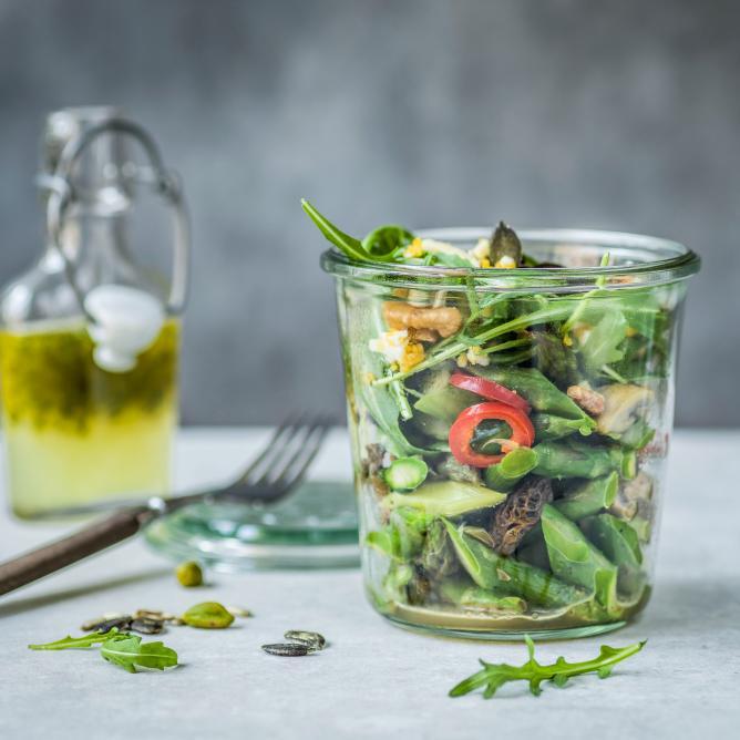 Spargel-Pilz-Salat