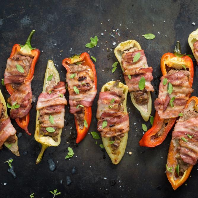 Poivrons farcis au barbecue