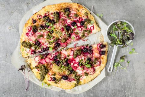 Superfood cauliflower flatbread