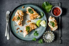 Monkfish parcels with sambal mahoi
