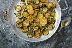 Pan-fried courgettes