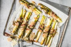 Bunched asparagus