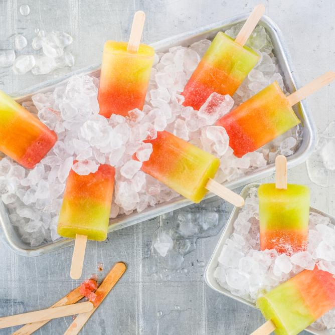 Melon ice lollies