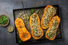 Stuffed butternut squash