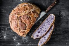Purple potato bread