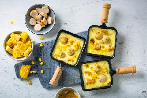 Raclette with sausage