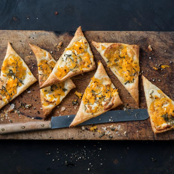 Triangles au gorgonzola et à la courge