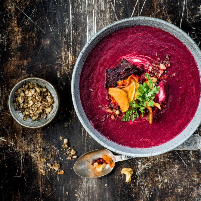 Beetroot & ginger soup