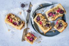 Berry crumble slices