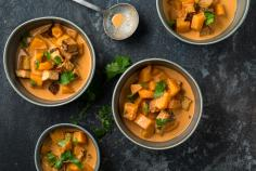 Pumpkin and tofu curry