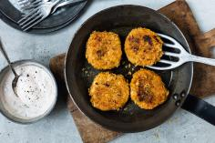 Sweet potato and fish burgers