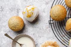 Vegan lemon and poppy-seed muffins