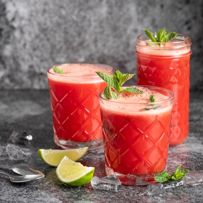 Wassermelonen-Limetten-Cooler