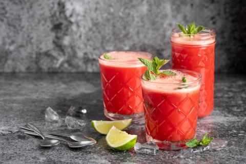 Watermelon and lime cooler