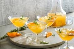 Lillet tonic with clementines