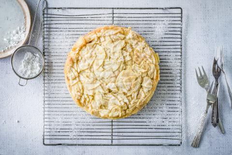 Gâteau aux pommes juteuses