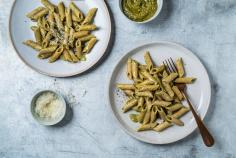 Wholegrain penne with sage pesto