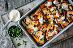 Sweet potato and fig salad with ras el hanout