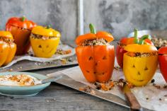 Stuffed Halloween peppers