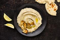 White bean and artichoke hummus with dukkah