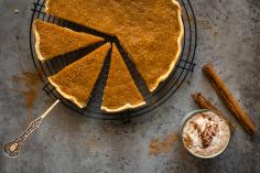 Pumpkin & cinnamon pie