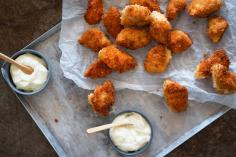 Chicken nuggets with wasabi mayonnaise