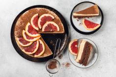 Chocolate and grapefruit cake