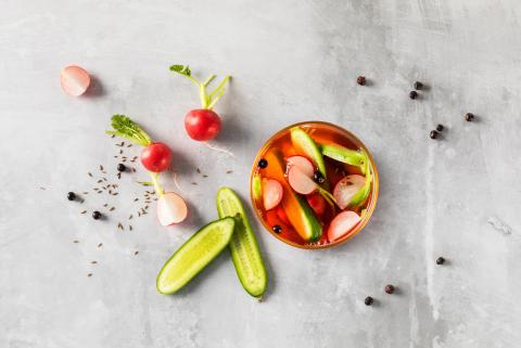 Pickled radish & cucumber