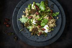 Baby kale and buckwheat salad