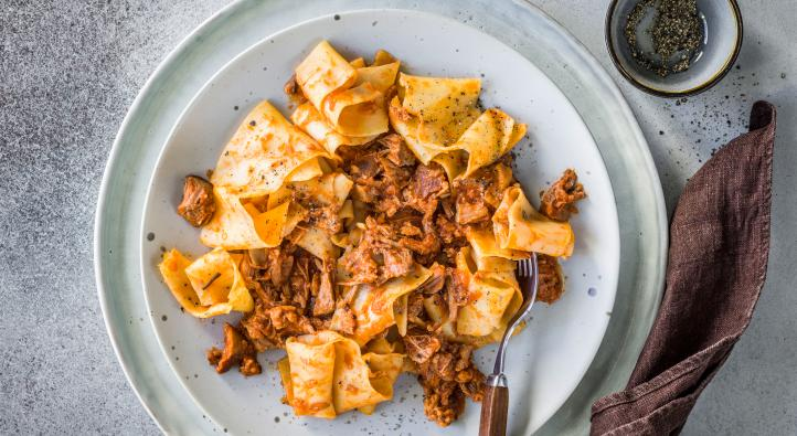 Pappardelle with ragù
